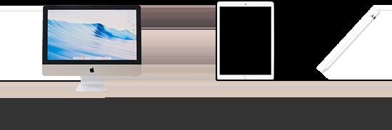 インターネットに接続されたPC1台/iPad1台/apple pencil1本